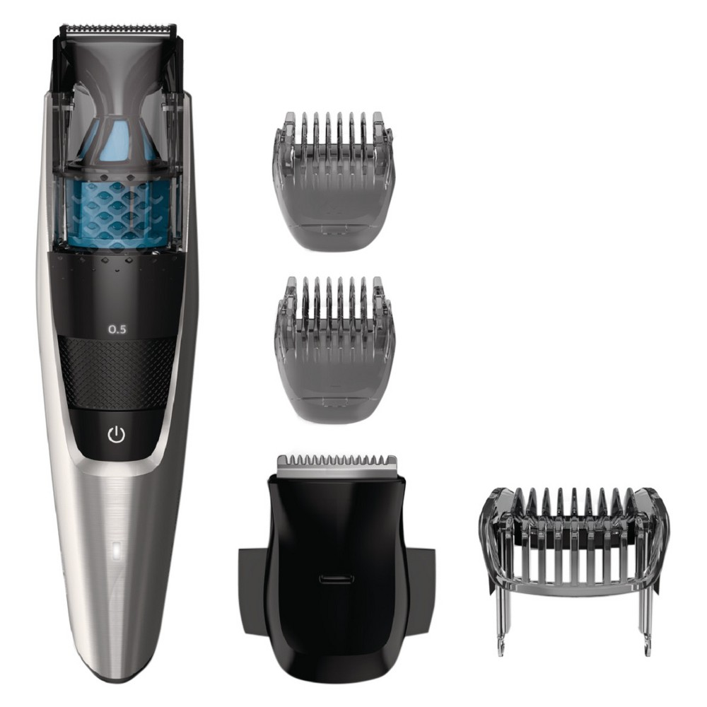 Image of Philips Norelco Series 7200 Beard & Hair Men's Electric Trimmer with Vacuum - BT7215/49, Black