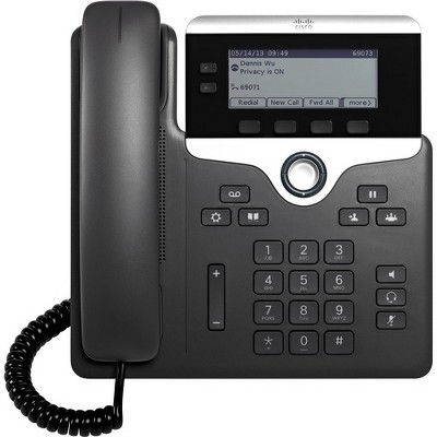 Cisco 7821 IP Phone - Wall Mountable - 2 x Total Line - VoIP - Caller ID - SpeakerphoneEnhanced User Connect License, Unified Communications Manager