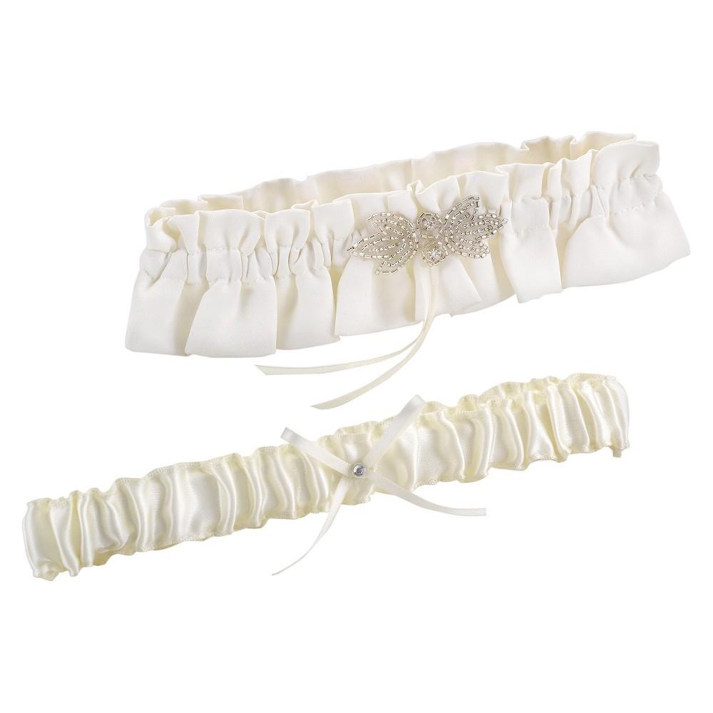 Chic Classic Garter Set Ivory, Women's
