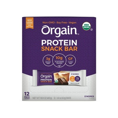 Orgain Organic Vegan Protein Bar - S'mores - 12ct
