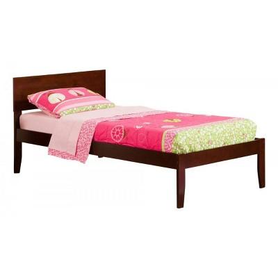 Atlantic Furniture Orlando Twin XL Bed in Walnut