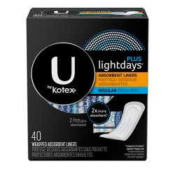 U by Kotex Curves Regular Unscented Liners - 40ct