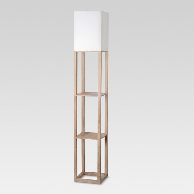 Shelf Floor Lamp Light Wood Lamp Only - Threshold™