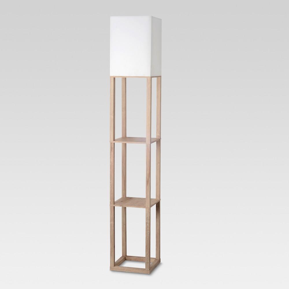 Shelf Floor Lamp Light Wood Lamp Only - Threshold