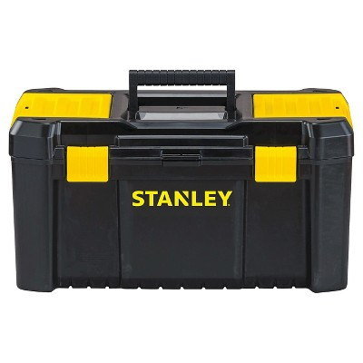 STANLEY® Essential 19  Tool Box with Plastic Latches - Black with Yellow - STST19331
