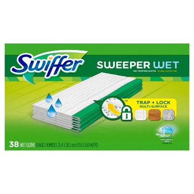 Swiffer Sweeper Wet Mopping Pad Multi Surface Refills for Floor Mop Open Window Fresh Scent - 38ct