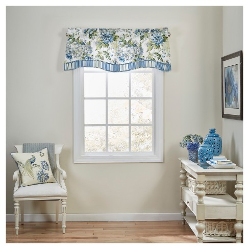 Waverly Window Valance Blue/White/Yellow Floral - image 1 of 1