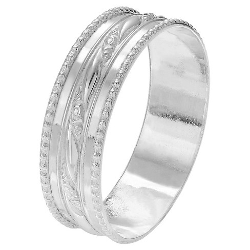 Women's Journee Collection Handcrafted Milgrain Band in Sterling Silver - Silver - image 1 of 2