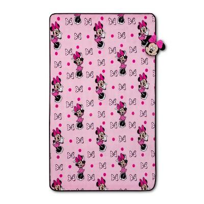 Mickey Mouse & Friend Minnie Mouse Nogginz Blanket Set Pink
