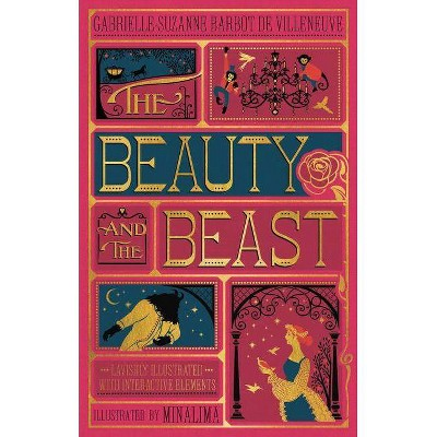 The Beauty and the Beast (Illustrated with Interactive Elements) - by  Gabrielle-Suzanna Barbot de Villenueve (Hardcover)