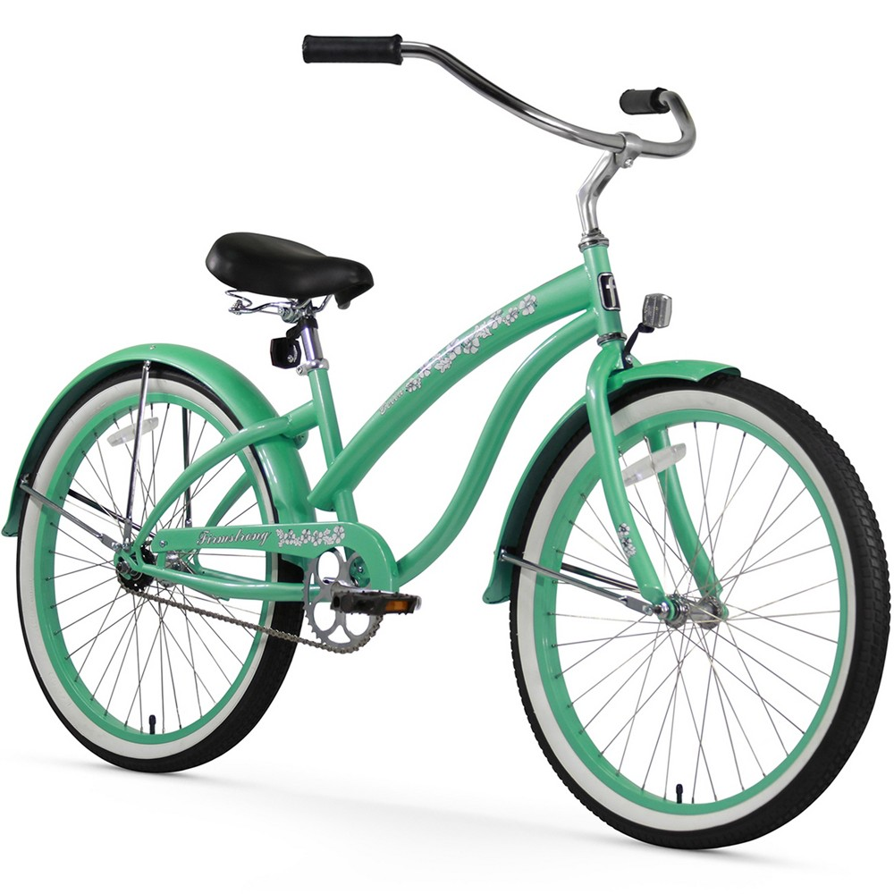 Firmstrong Bella Classic 26 Single Speed Beach Cruiser Bicycle - Mint Green