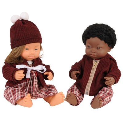 """Miniland Boy and Girl Dolls with Down Syndrome - 15"""" Dolls With Outfits"""