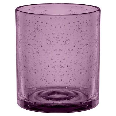 Artland Iris 14oz 4pk Double Old-Fashioned Glasses Purple