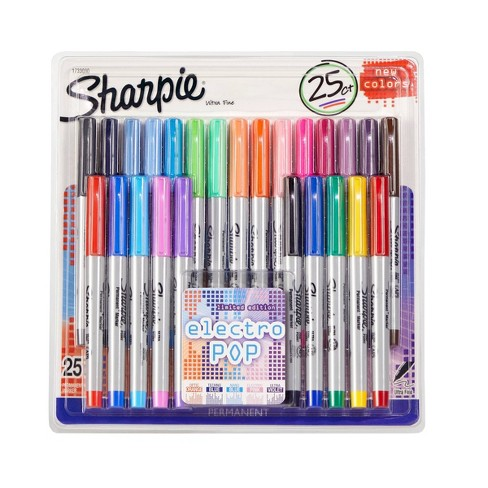 Sharpie 25pk Ultra Fine Tip Permanent Markers Multicolor - image 1 of 4