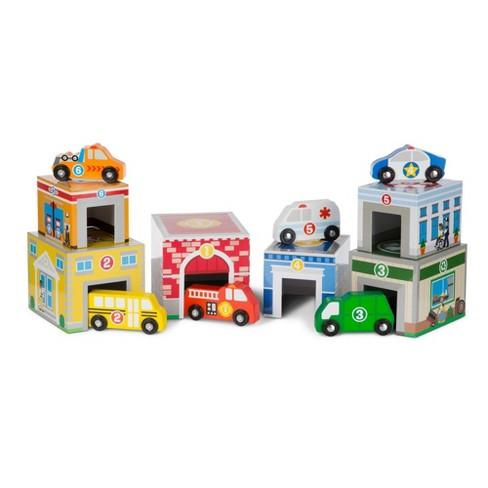 Melissa & Doug Nesting & Sorting Toys - Buildings & Vehicles - image 1 of 4