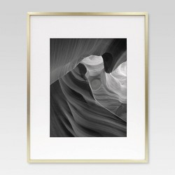 Thin Metal Matted Gallery Frame Brass - Matted Photo - Project 62™