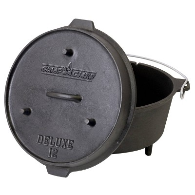 Camp Chef 12  Cast Iron Deluxe Dutch Oven - Black