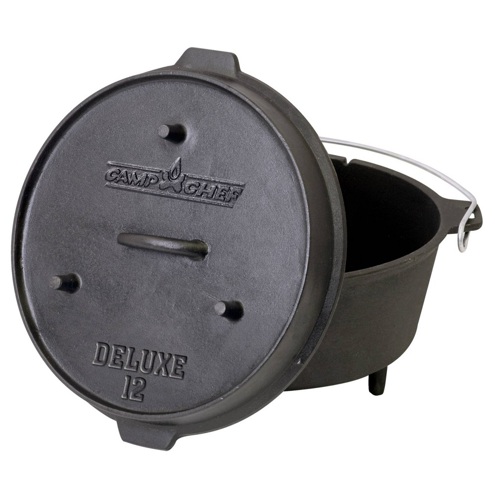 "Image of ""Camp Chef 12"""" Cast Iron Deluxe Dutch Oven - Black"""