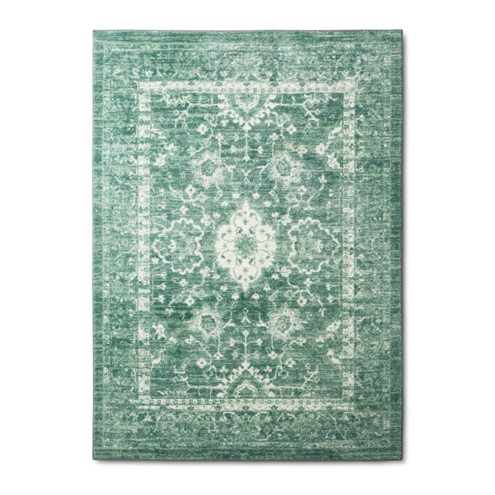 10'X12' Tufted Area Rug Floral Mint (Green) - Threshold