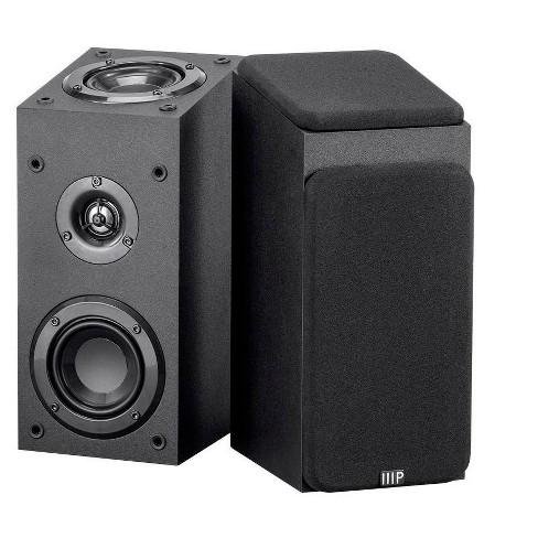 Monoprice Premium Immersive Satellite Speakers - Black (Pair) With 3Inch woofer, 3/4Inch Aluminum Dome & 100 Watt Input Power - image 1 of 4