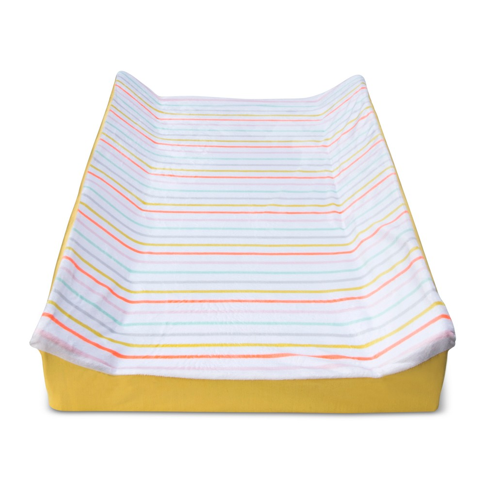 Changing Pad Cover Multi-Stripes -Cloud Island White