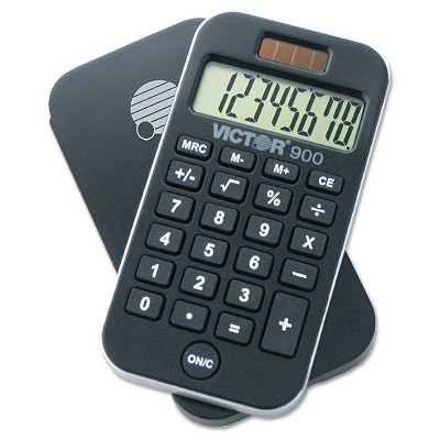 Victor 900 Antimicrobial Pocket Calculator 8-Digit LCD