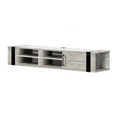 """Munich Wall Mounted Media Console for TVs up to 75"""" Seaside Pine - South Shore"""