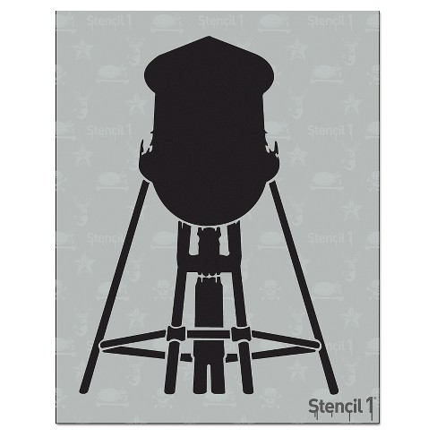 "Stencil1® Water Tower - Stencil 8.5"" x 11"" - image 1 of 2"