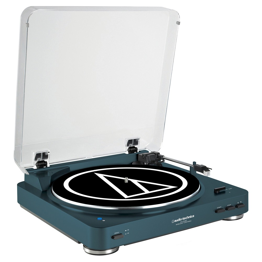 Audio Technica AT-LP60BK-BT Bluetooth Wireless Stereo Turntable - Navy (Blue)