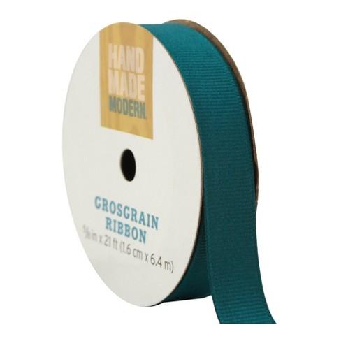 """Teal 5/8"""" x 21' Grosgrain Ribbon - image 1 of 2"""