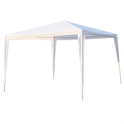 ALEKO Waterproof Portable Pop Up 10 x 10 Feet Gazebo Tent Canopy Shelter for Outdoor Shade Coverage and Party Entertainment, White