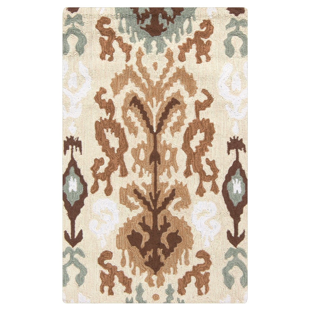 Khaki (Green) Solid Hooked Accent Rug - (2'6X4') - Surya