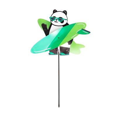 """32"""" Yard Stake Surfing Panda - Sun Squad™"""