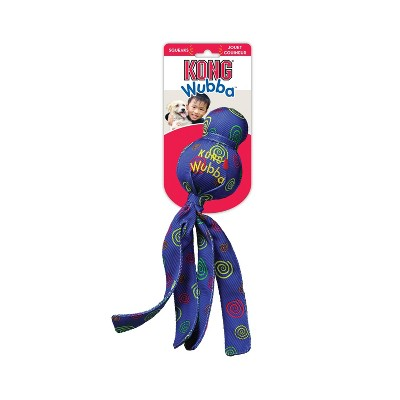 KONG Wubba Toss & Fetch Dog Toy - Blue - L