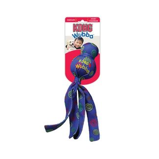 KONG Wubba Toss & Fetch Dog Toy - Blue - L
