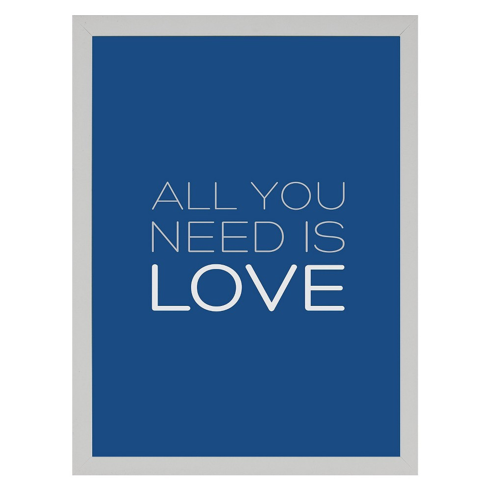 14 34 X 18 34 All You Need Is Love Single Picture Frame White Ptm Images
