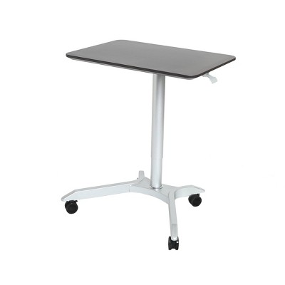 """28"""" Airlift Pneumatic Adjustable Height Sit and Stand Mobile Laptop Computer Desk Cart - Seville Classics"""