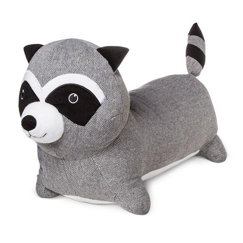 Raccoon Body Pillow Gray White Pillowfort Target