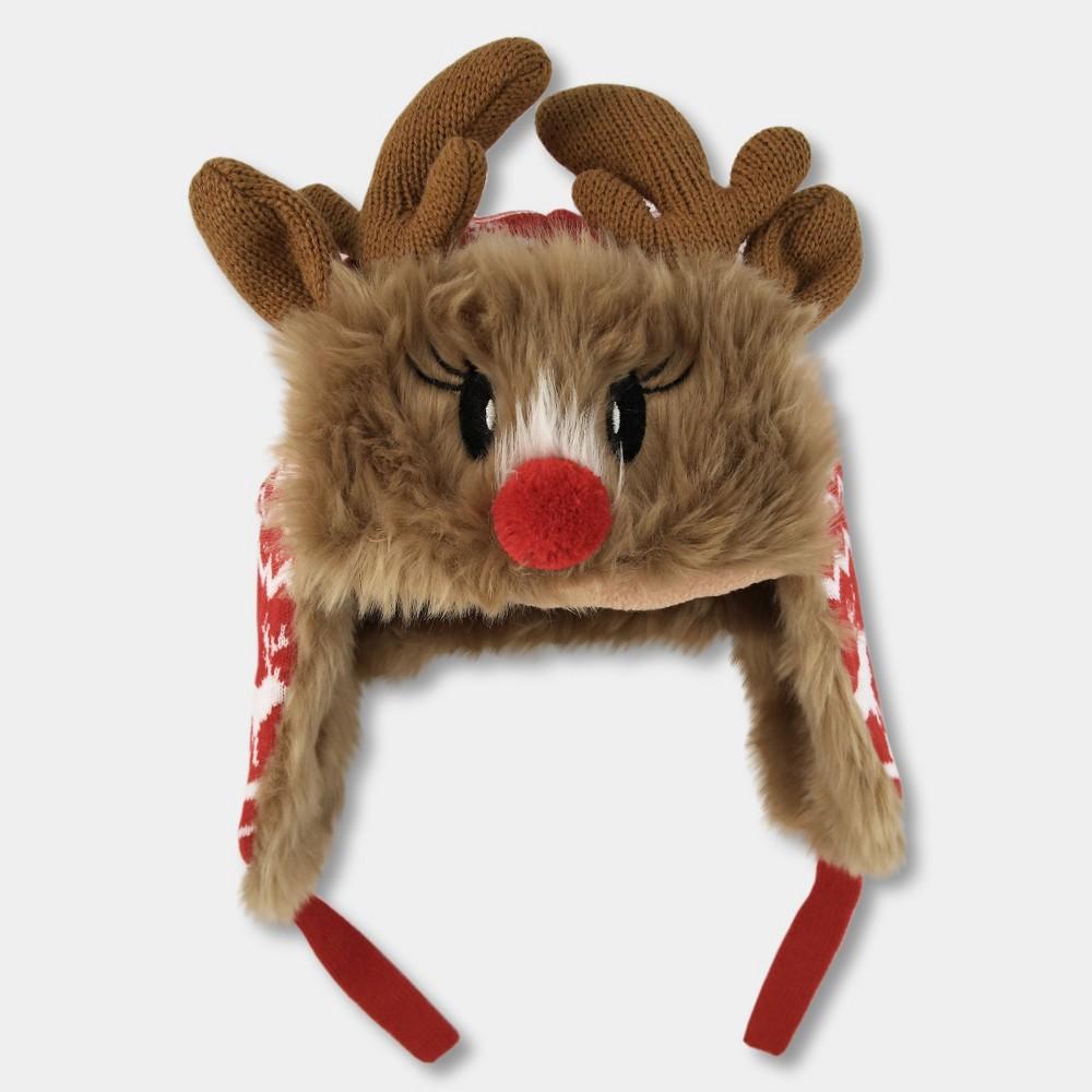 Image of Kids' Reindeer Trapper Hat - Brown, Kids Unisex