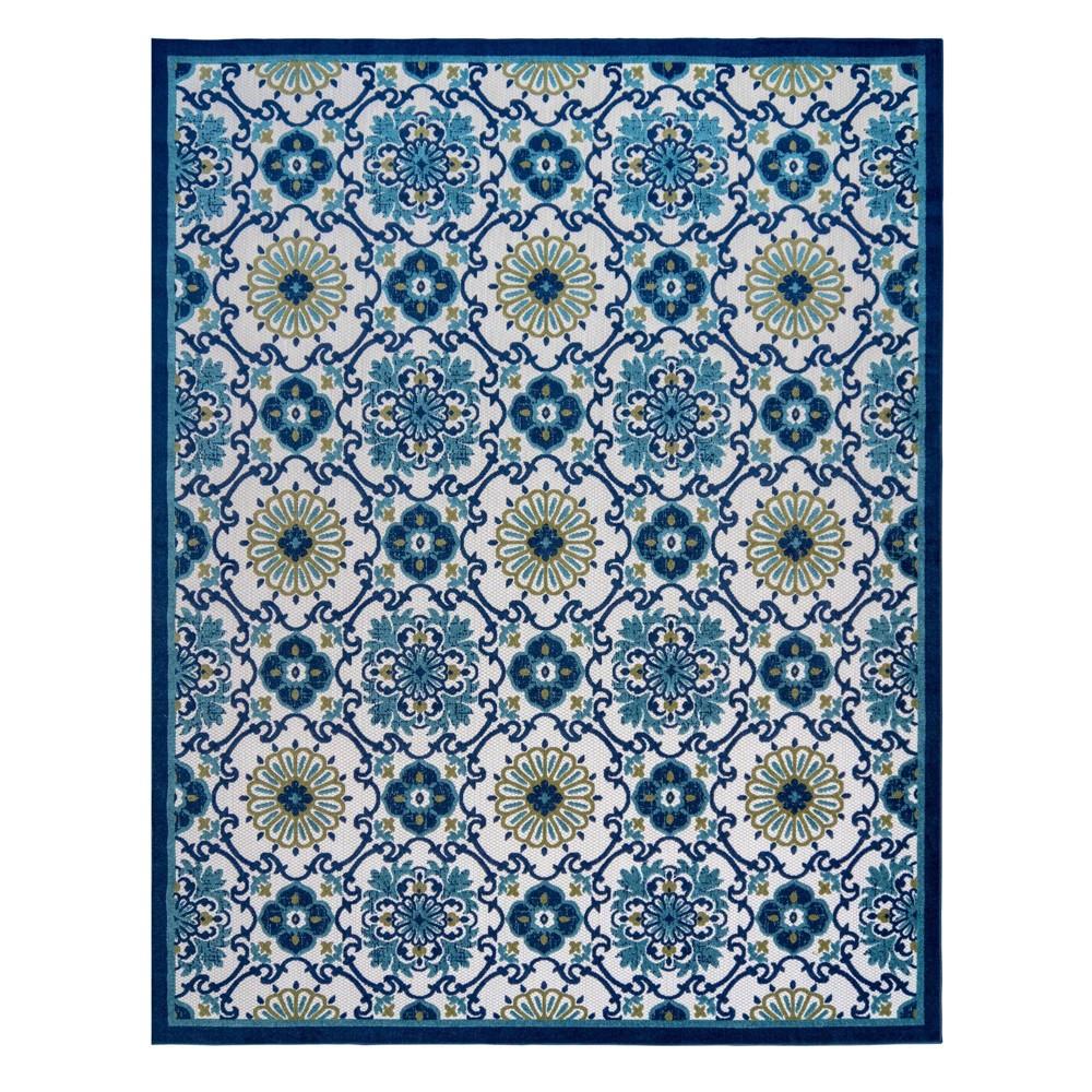 Image of 5'x7' Fosel Chora Outdoor Rug Blue - Gertmenian