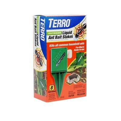 Terro 8pk Outdoor Liquid Ant Bait Stakes