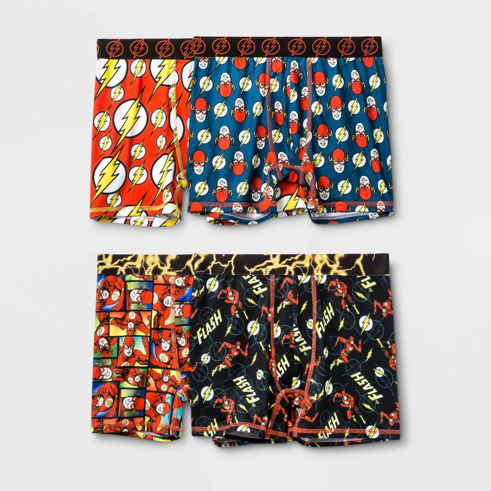 Image of Boys' The Flash 4pk Boxer Briefs - 10, Boy's, MultiColored