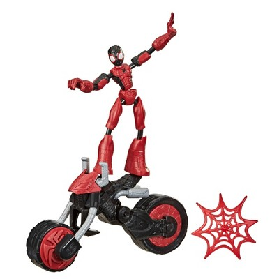 Marvel Bend and Flex, Flex Rider Spider-Man and 2-In-1 Motorcycle