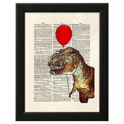 Little Tony Black Wood Framed Art Print