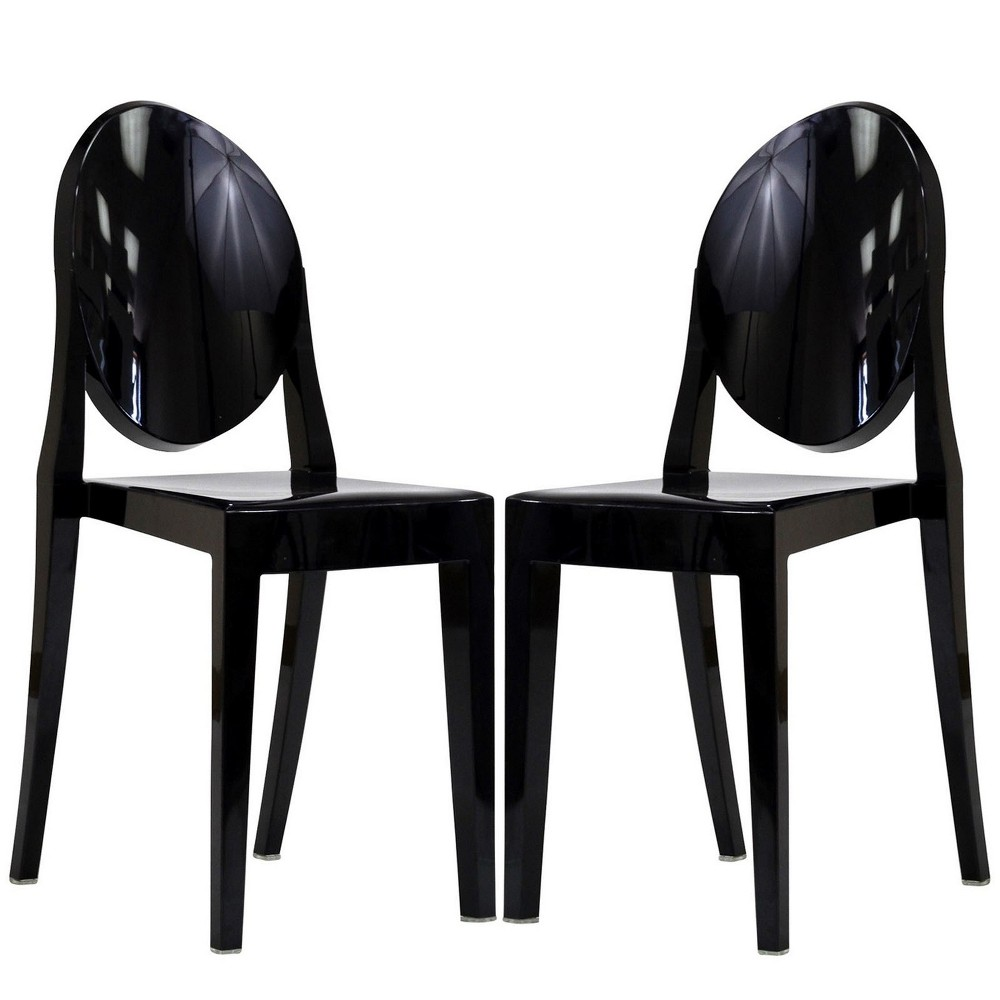 Casper Dining Chairs Set of 2 Black - Modway