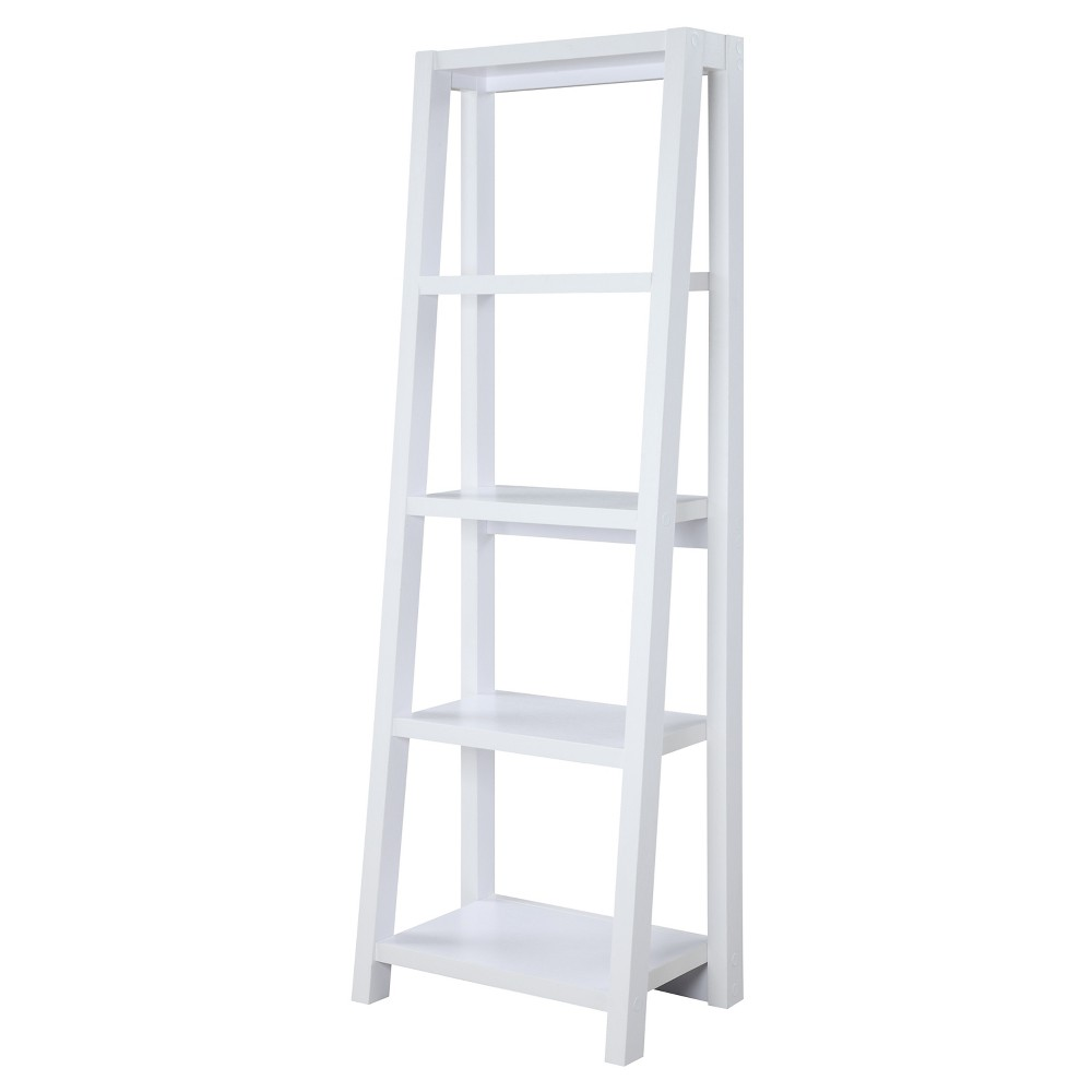 Newport 63.25 Lilly Bookcase - Convenience Concepts, White