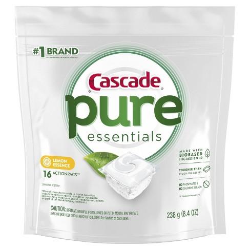 Cascade Pure Essentials ActionPacs Lemon Dishwasher Detergent - image 1 of 2