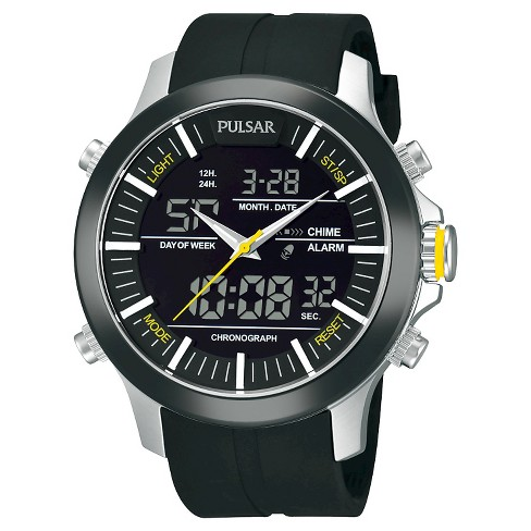 Men's Pulsar Chronograph - Black / Silver - PW6001 - image 1 of 1