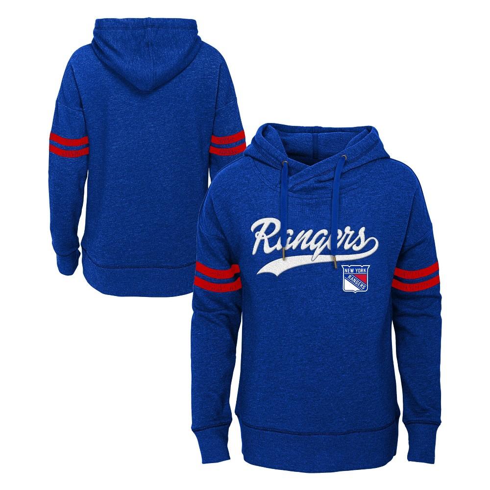 New York Rangers Girls' OT Fleece Hoodie XL, Multicolored