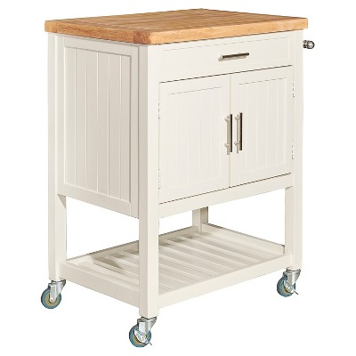 Abigail Kitchen Cart White - Powell Company